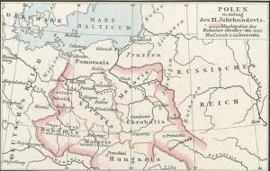 Das Reich Bolesławs I. des Tapferen (um 1025)