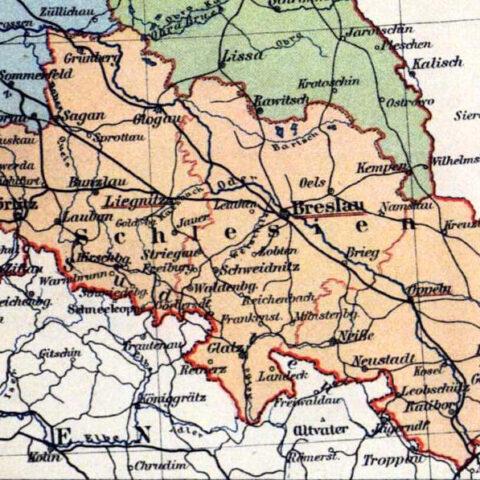 Die geographische Lage Schlesiens