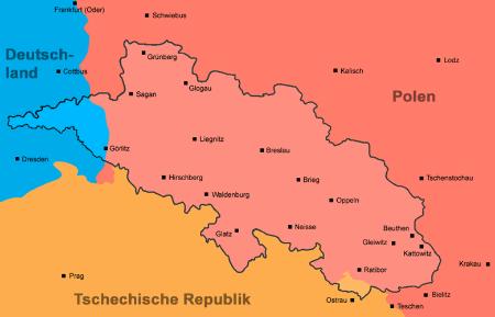 Polen Schlesien Karte.Schlesien Landsmannschaft Schlesien Nieder Und Oberschlesien E V