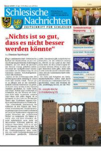 Schlesische Nachrichten April 2015