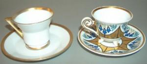 Zwei Mocca-Tassen aus Tillowitz
