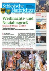 Schlesische Nachrichten Ausgabe Dezember 2015