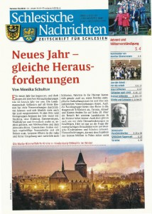 Schlesische Nachrichten Ausgabe Januar 2016